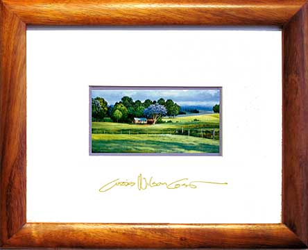 Framed collectible miniature print