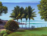 Painting by Curtis Wilson Cost: Eha Niu O' Makena