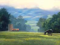 Painting by Curtis Wilson Cost: First Light in the Morning Air