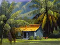 Painting by Curtis Wilson Cost: Hula Palms