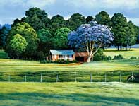 Painting by Curtis Wilson Cost: Jacaranda Season