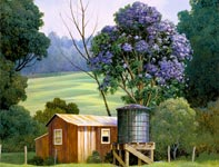 Painting by Curtis Wilson Cost: Lavender Rain in Full Bloom