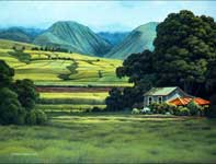 Painting by Curtis Wilson Cost: Little Green House