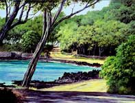 Painting by Curtis Wilson Cost: Makena Kiawes