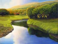 Painting by Curtis Wilson Cost: Molokai Calm