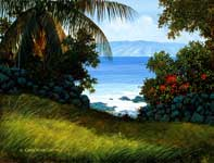 Painting by Curtis Wilson Cost: Molokai Pathway