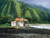 Painting by Curtis Wilson Cost: Morning on the Big Island