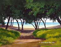 Painting by Curtis Wilson Cost: Path to Baby Beach