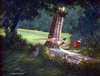 Painting by Curtis Wilson Cost: Undercover Pheasants